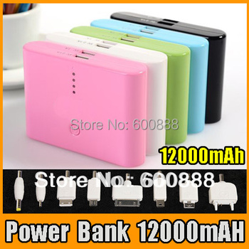 [ Power bank 12000mAH ] universal External Battery Pack charger for iphone for samsung high tech free shipping