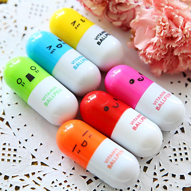 8 pcs/lot lovely kawaii pill ballpoint pen Cute learning stationery Student prize vitamin pill novelty ballpen free shipping 125<br><br>Aliexpress