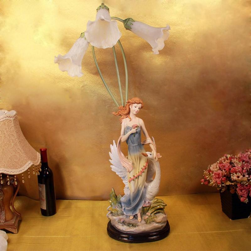 European resin crafts beautiful angel ornament ornaments for Bedroom ornaments