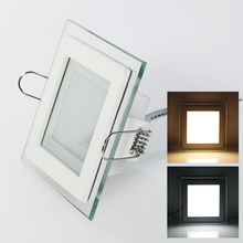 Free Shipping 10W/15W/25W Plexiglass Led Square Panel Recessed Wall Ceiling Downlight AC85-265V White/Warm White Indoor Lighting(China (Mainland))