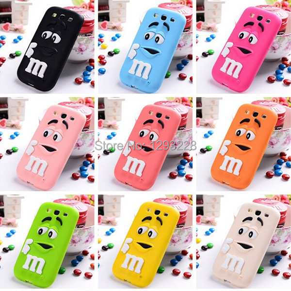HOT Cute 3D Rubber Silicon Case For Samsung Galaxy S3 Cellphone Cases dHZY(China (Mainland))