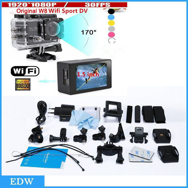Fast Shipping New WiFi Version SJ4000 Action Camera Diving 30M Waterproof Sport