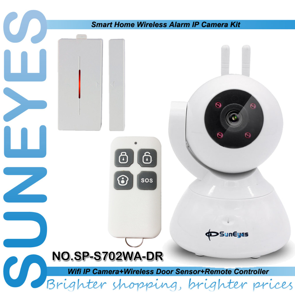 SunEyes SP-S702WA-DR Wireless IP Camera Alarm Kit 720P HD with one Magnet Door Sensor and One Remote Control(China (Mainland))