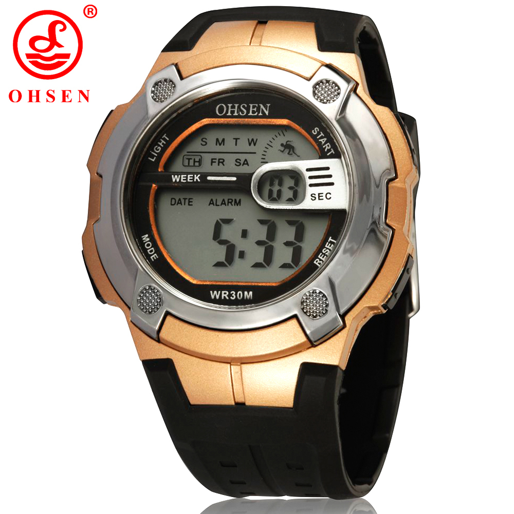 new ohsen mens boys digital sports watches alarm date day
