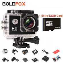 USD41-5 Coupon Mini Camera Go Pro Style Action Camcorders Waterproof 30M Sport Cam 1080P Logo 720P HD Helmet Camera DV 32GB Card(China (Mainland))