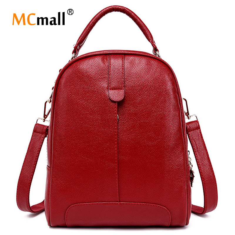 New 2016 designer Leather Backpacks School Travel Bag Famoud Designers Brand School Backpack For Girl Mochilas Femininas BD-131(China (Mainland))