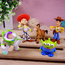 Super Cute Kids Baby Toy Story Figure Woody Buzz Jessie Bulleye Alien Toy Figures 5pcs set Kids Gift Present(China (Mainland))