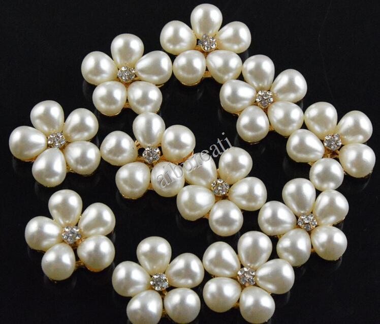 Livraison Gratuite Prune Perle Diamant De Mariage Embellissement Scrapbooking Fleur Center Perle Et Strass Boutons(China (Mainland))