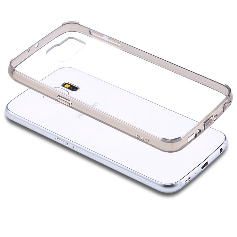 S6! Original Tough Brand Soft TPU + Hard Clear Case For Samsung Galaxy S6 G9200 Protect Transparent Back Hybrid Cover +Dust plug(China (Mainland))