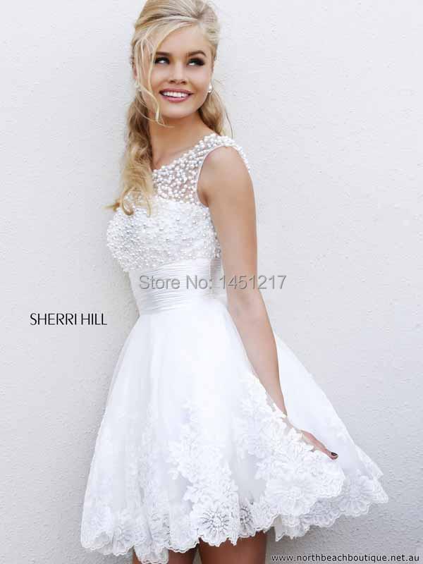 White Poofy Prom Dresses - Ocodea.com