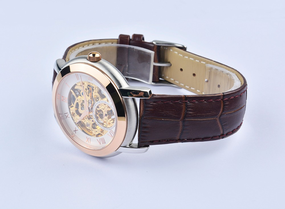 2016 Luxury Brand Автоматические механические часы 30 М воды наручные часы кожаный ремешок спорт мужчины Автоматические механические часы подарок горячая