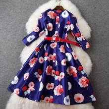 Buy print Winter dress 2016 High colorful Cute women Clothing fashion Slim Spring Dress lady plus size S XL elegance dresses for $45.44 in AliExpress store