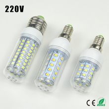 1X 30 36 48 56 69 89 102LEDs E14 E27 220V LED Corn light Bulb Replace Compact Fluorescent lamp CFL (7W 12W 15W 20W 25W 30W 35W)(China (Mainland))