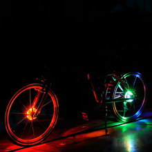 Buy Amazing New Glowing Bicycle Safety Warning Light Hubs Bike Front Tail Light Lamp LED Wheel Warning Spoke Light Waterproof IP55 for $4.46 in AliExpress store