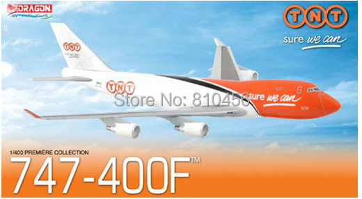 Free Shipping!Promotion Dragon TNT express B747 airplane model aircraft model 1:400 premiere collection souvenir gift(China (Mainland))