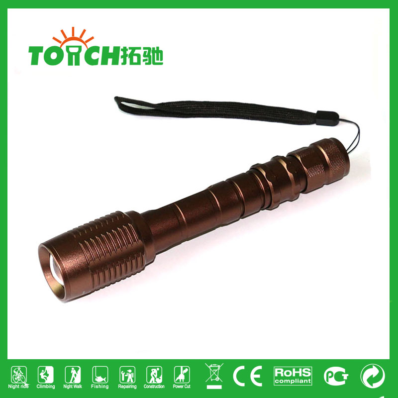 CREE XM-L T6 3000LM High Power Torch Zoomable LED Flashlight Five Mode SOS function Use DC 3.7v 2*18650 battery high power 8068(China (Mainland))