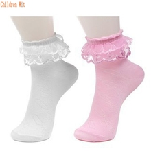 5 pairs / lot 2016 spring&summer candy color Cotton&Nylon Lace socks for children girls socks  kids socks for girls 3-7 year(China (Mainland))