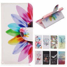 Butterfly Pattern Leather Case for BQ Aquaris M5 Case Colorful Flowers Flip Stand Wallet Cover for BQ M5 Card Slot Phone Bags