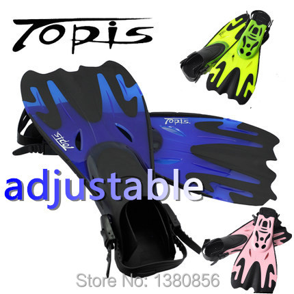 Topis adjustable fins men women free swimming training long flippers mermaid diving scuba snorkel shoes equipment feet monofin(China (Mainland))