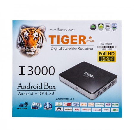 Tiger Star I3000 Android DVB S2 Satellite IPTV Receiver Satellite Receiver for Arabic,Europe,iptv channels over 1000channels(China (Mainland))