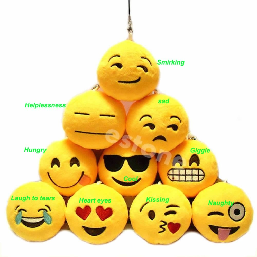 Free shipping Emoji Smiley Emoticon Amusing Key Chain Toy Gift Pendant Bag Accessory Nice(China (Mainland))