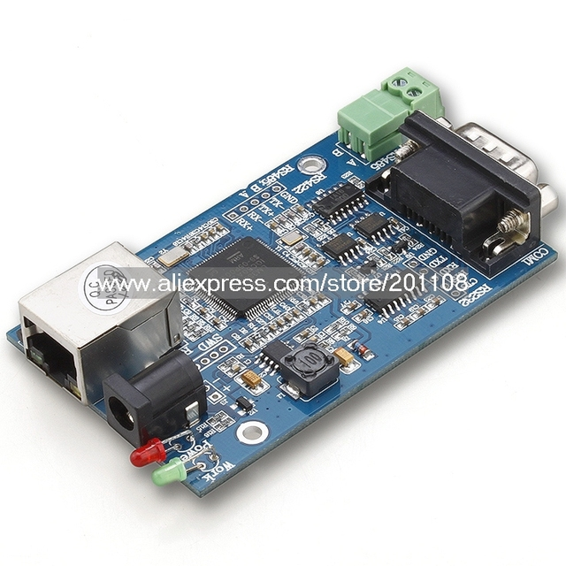 FB048A 2PCS/LOT Serial Device Servers Module TCP/IP/UDP Support DHCP RS232 / RS485 to Ethernet