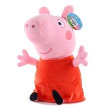 Original Marca Peppa pig brinquedos George pepa Pig Família Plush Toys 30 centímetros decorações da Festa de aniversário do porco peppa Boneca de Pelúcia presente(China)