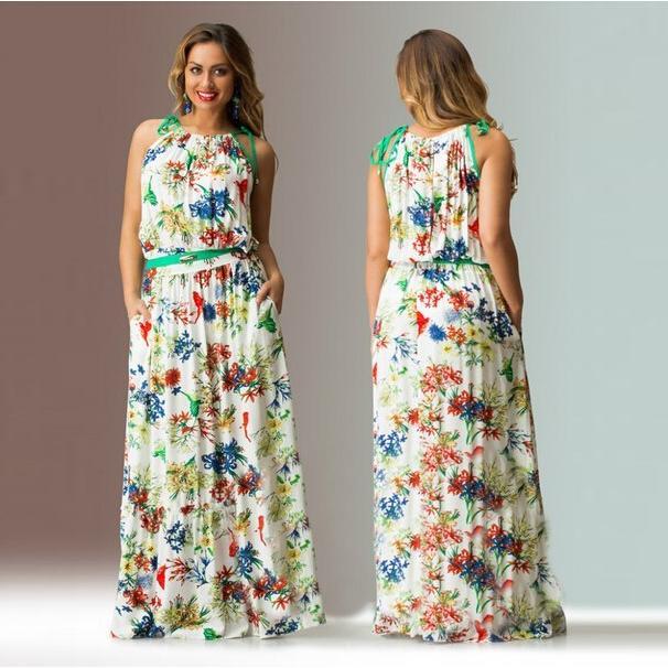 Maxi cotton dresses plus size