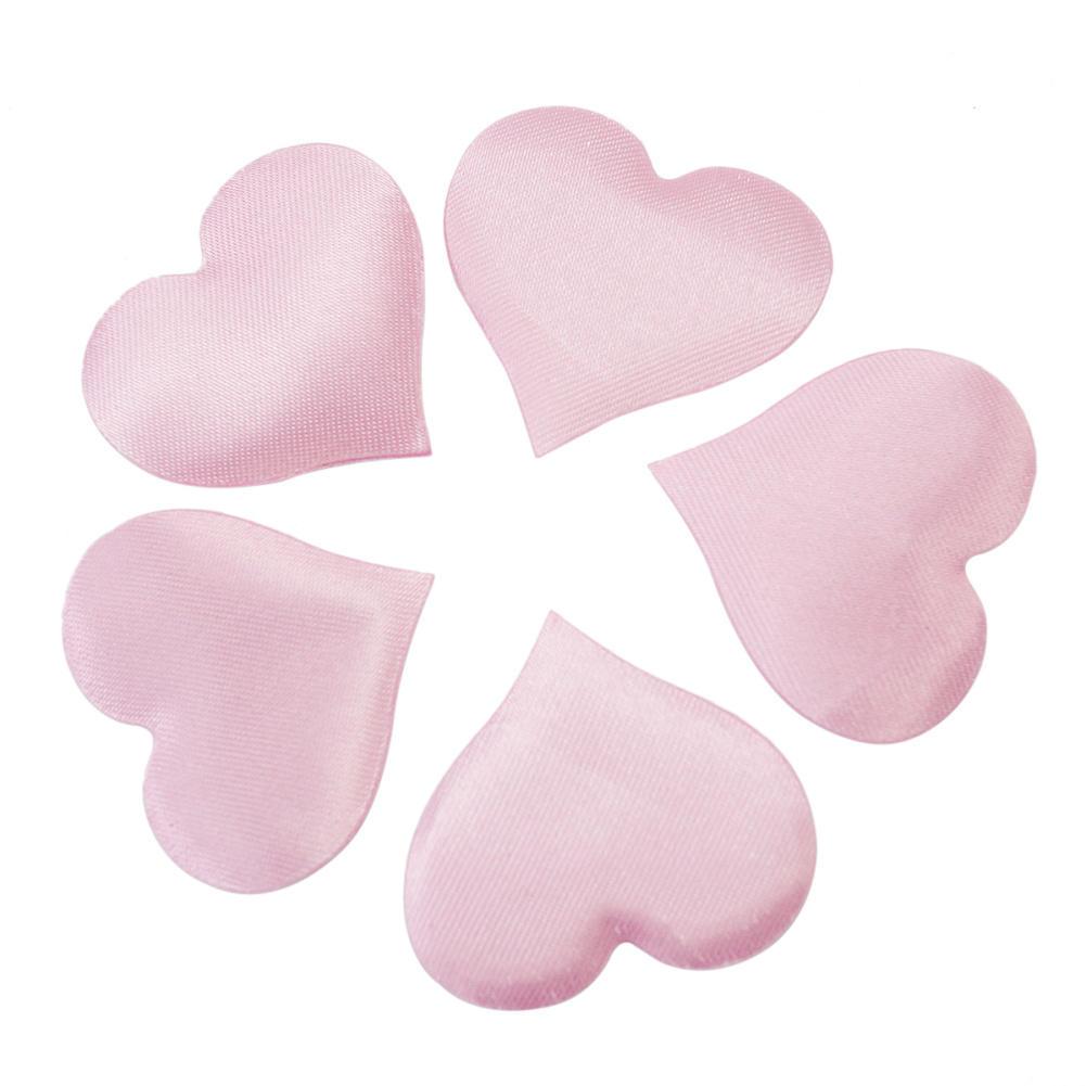 100Pcs Beautiful Pink Heart Flower Petals Petalas Wedding Party Engagement Home Decoration(China (Mainland))