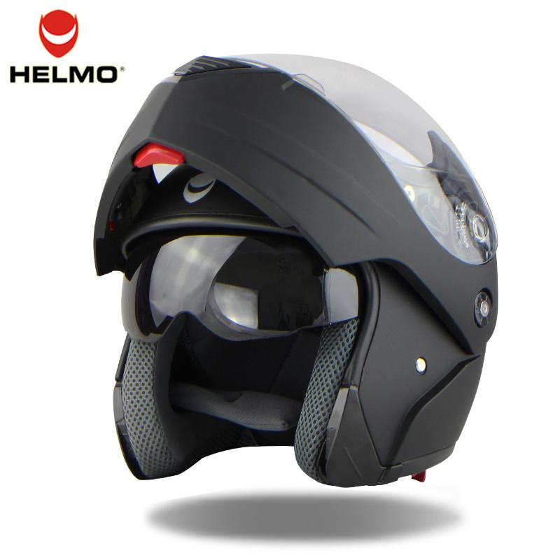 2016 New 3 Color Fashion Double Lens Flip Up Motorcycle Helmet Motocross Full Face Helmet Fit For Men Women Warm(China (Mainland))