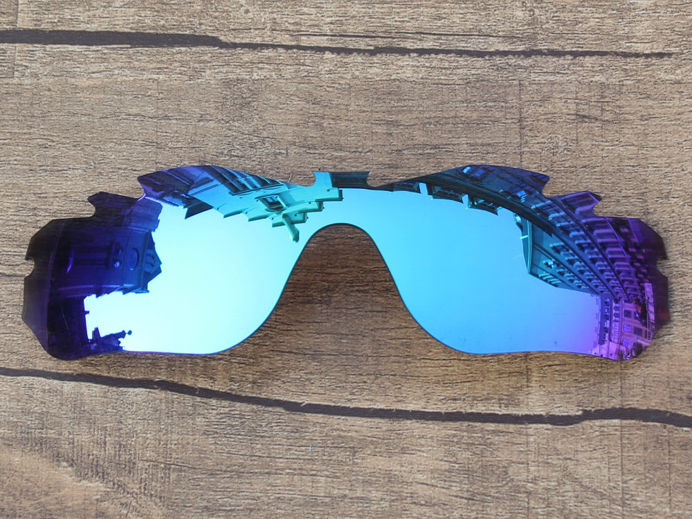 Ice Blue Mirror Polarized Replacement Lenses For Radar Edge Vented Sunglasses Frame 100 UVA UVB Protection