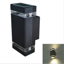 outdoor porch lighting 8W GU10 Outdoor Wall Lamps Alumunim Waterproof IP54 Black/Grey/White - Shenzhen HQ-Lighting CO.,Ltd store