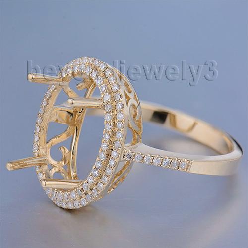Здесь можно купить  Oval 10x14mm 14K Semi Mount Ring Settings Yellow Gold Woman Wedding R0014 Oval 10x14mm 14K Semi Mount Ring Settings Yellow Gold Woman Wedding R0014 Ювелирные изделия и часы
