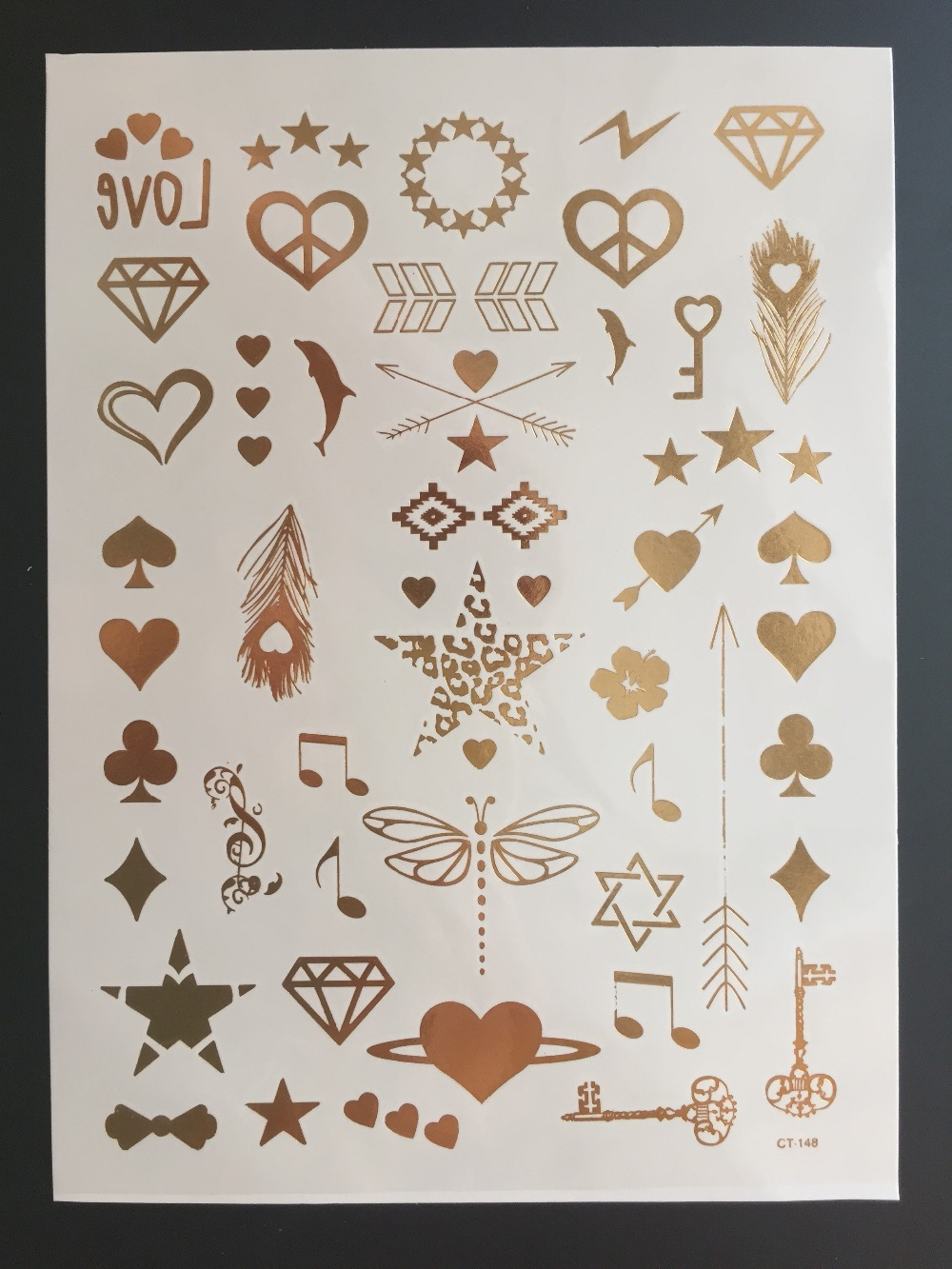 Disposable Transfer Temporary Tattoos many hearh style Laser Transfer Tattoos Papers Color Laser Copier Art Decal(China (Mainland))