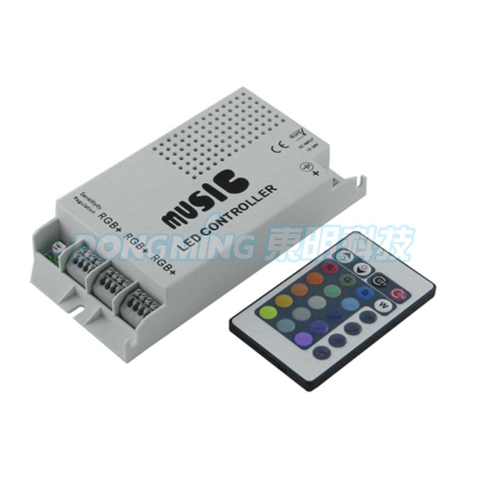 Audio sound sensitive controller 12-24V 24 Keys Wireless IR Remote Control Music led Controller RGB led Control(China (Mainland))