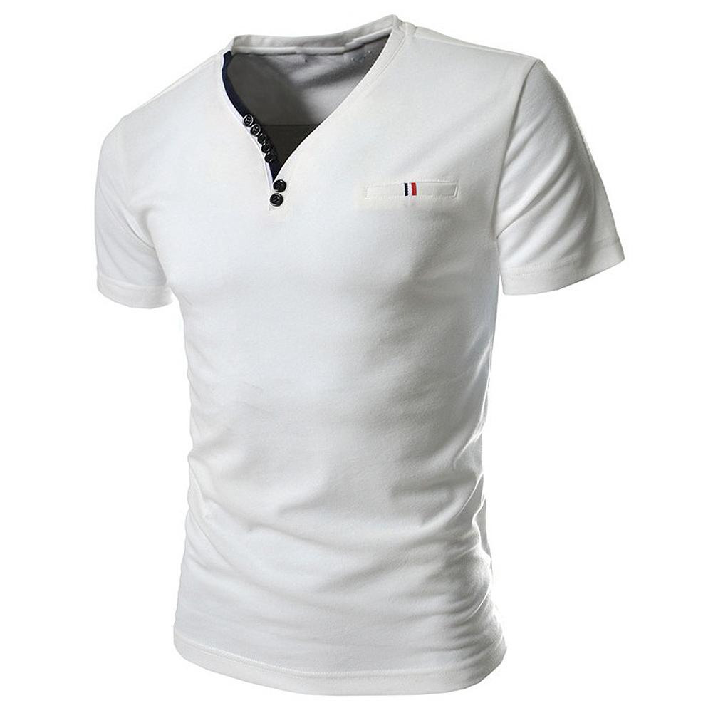 FS Hot 2016 New Brand PIQUE 8 color Fashion Ribbon element men T shirts Slim fit casual V neck Short sleeve homme de marque(China (Mainland))