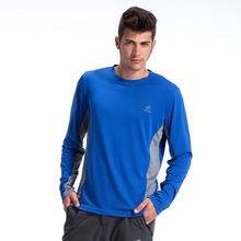 NEW 2015 summer outdoor mens brand tee t-shirts male long sleeve man hiking mesh casual clothes quick dry breathable