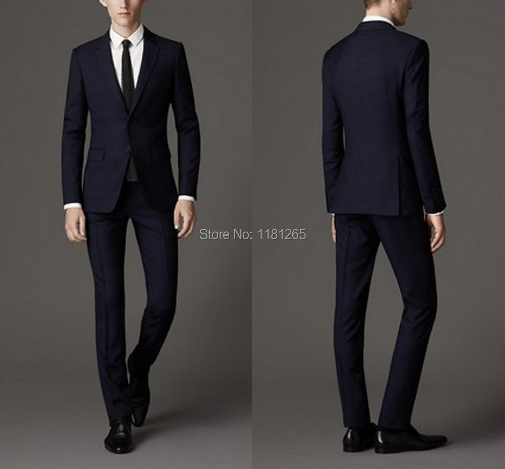 Terno Masculino New men's 100% wool suits Hot Sale regular fit Worsted Custom Made Single Breasted Flat Slim Business Men Suits(China (Mainland))