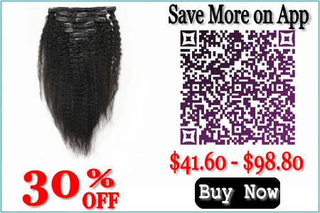 8A grade Kinky Straight Clip in hair Extensions virgin Brazilian hair Extensions 10″-26″ 100% Real human hair Extensions on sale