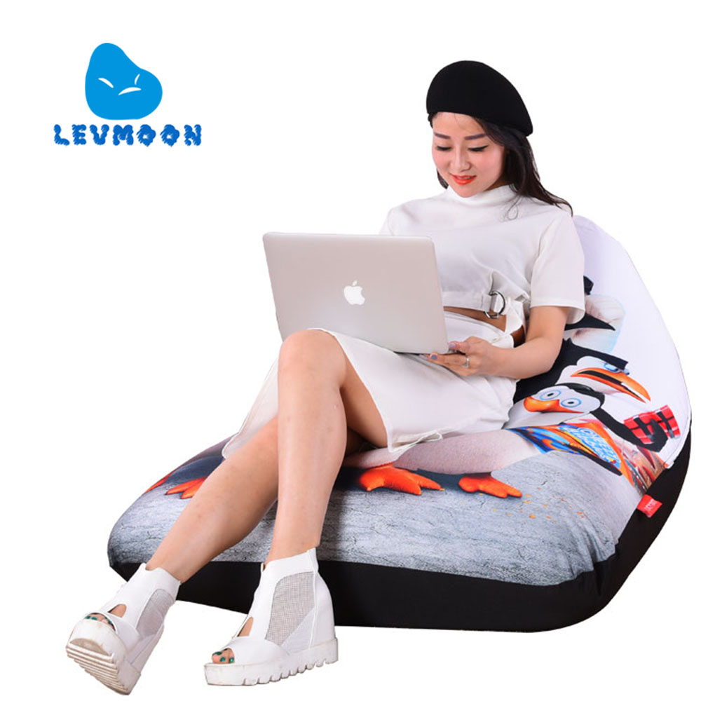 LEVMOON Beanbag Sofa Chair Shel Madagascar Seat Zac Comfort Bean Bag Bed Cover Without Filler Cotton Indoor Beanbag Lounge Chair(China (Mainland))