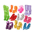 LeadingStar 10 Pairs Doll Shoes Boots Fashion Cute Assorted Shoes for Barbie Doll Accessories Play House