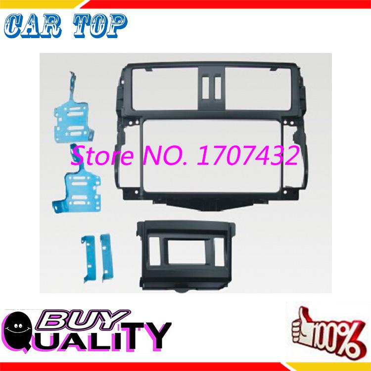 Top quality 2 DIN Car Radio Fascia for TOYOTA Land Cruiser Prado GXL 150 2009+ stereo facia frame panel dash mount kit adapter<br><br>Aliexpress