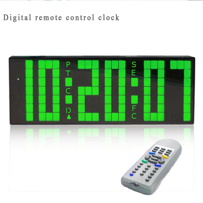 ** Large Big LED Digital Alarm Clock Remote Control Countdown Backlight Temperature Bedroom - Chihai Electronic Co., Ltd store