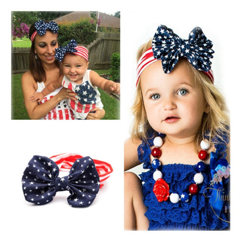 2Pcs/lot MOM and Daughter Baby Headband Hair Accessories Striped Toddler Girls Headbands Hair bows 2016 Kids Turban Tie Headwrap(China (Mainland))
