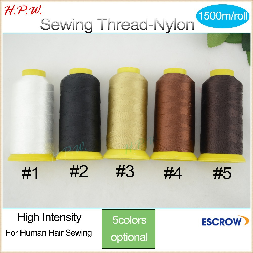 10pcs 1500m/roll high quality sewing thread for human hair Weft Weaving Thread/ High Intensity Polyamide Nylon Thread 4colors<br><br>Aliexpress