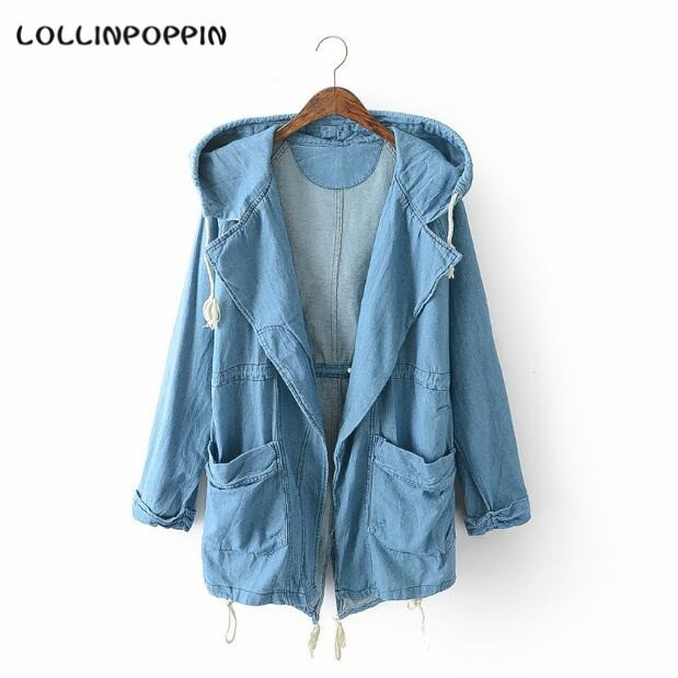 Popular Light Denim Jacket with Hood for Women-Buy Cheap Light ...