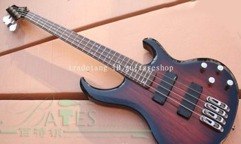 Free shipping/wholesale telluride 4 string electric bass guitar in wooden finish cheap 1j0