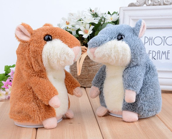 Top Quality! 2014 New Kids/Children Electronic Toys Speak Talking Sound Record Hamster Plush Toy 29(China (Mainland))