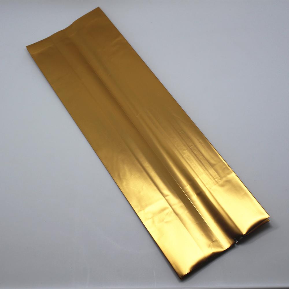 DHL 10*33+6cm 300Pcs/ Lot Golden Open Top Organ Bag Vacuum Aluminum Foil Bellows Pocket For Sugar Snacks Storage Mylar Pack Bags(China (Mainland))