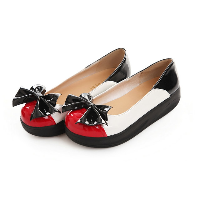 spring and summer dropshipping fashion patent leather wedge women platform wedge heel shoes(China (Mainland))